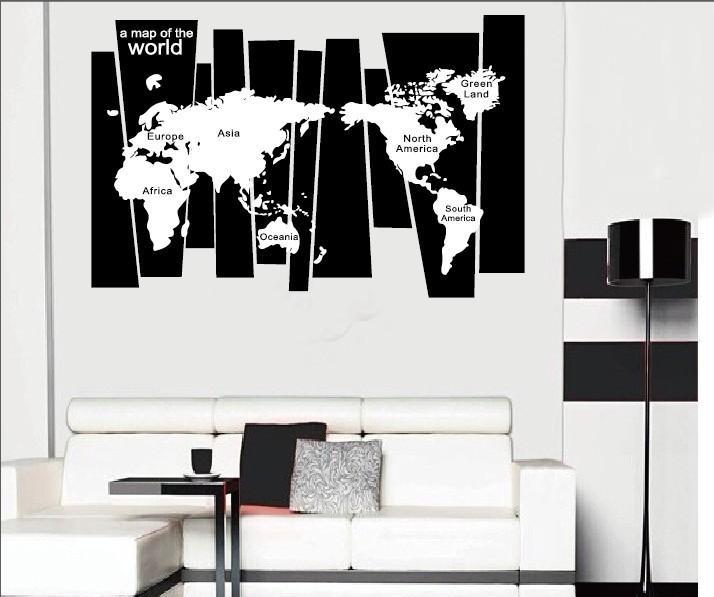 Acheter Tronc D Arbre Sticker Autocollant Sept Continents Carte Du