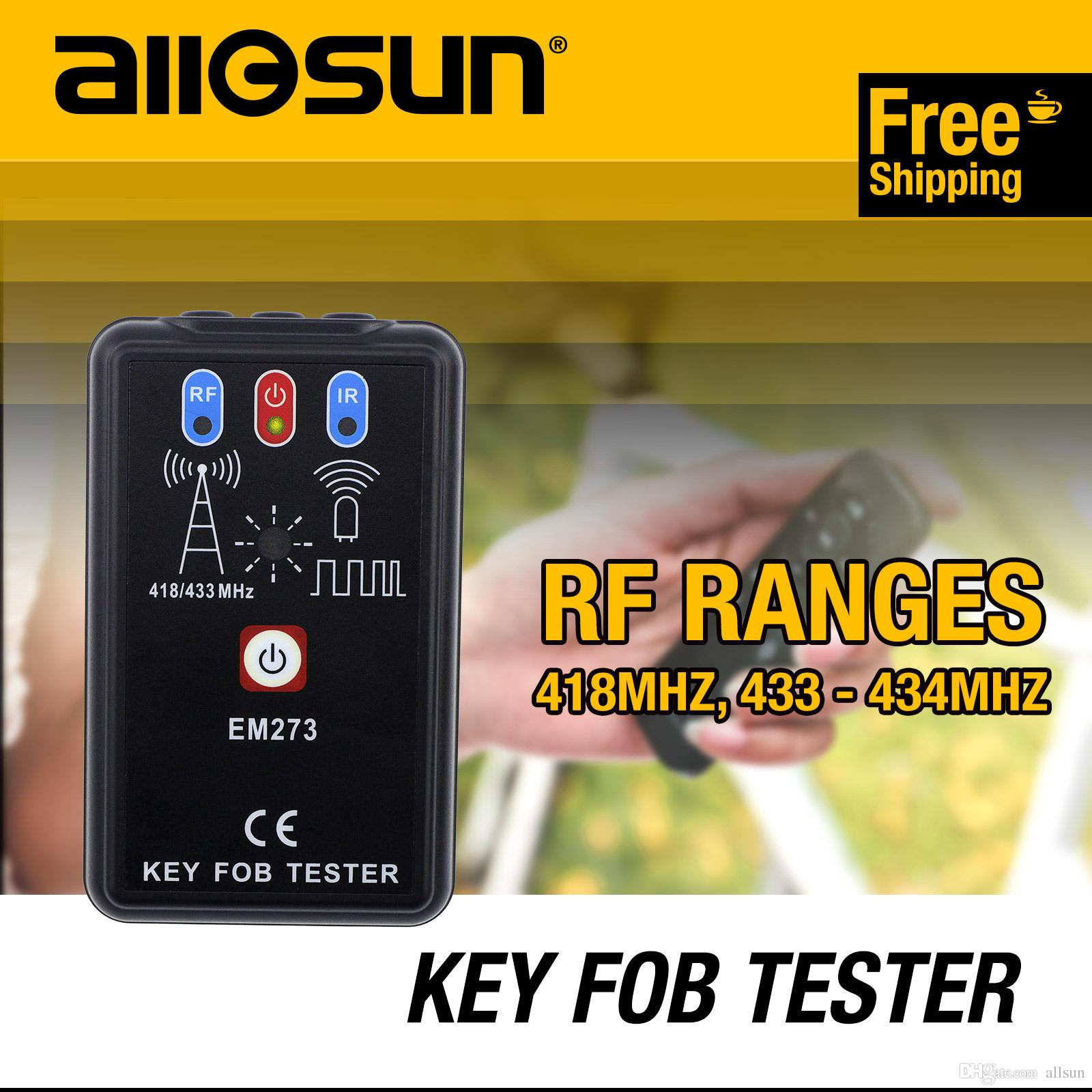 Allsun Portable Key Fob Tester Radio Frequency & Infrared Vehicular Remote  Controller Wave Analyzer Tool EM273 Signal Receiver