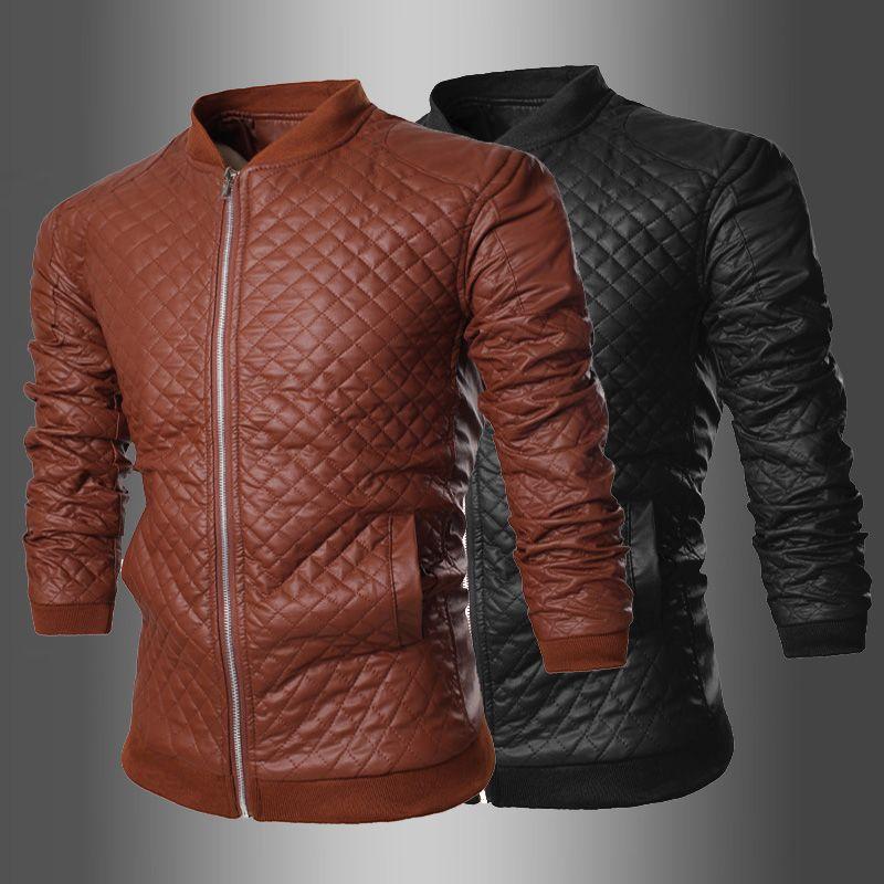 2015 New Jacket Men Leather Jacket Collar Men'S Leather Motorcycle ...