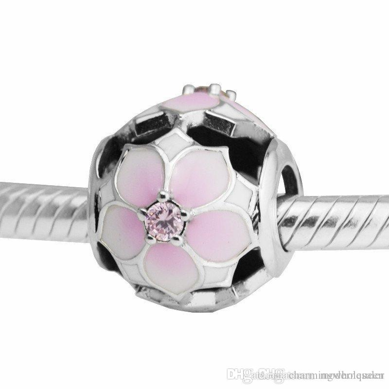 1455c0c67 Magnolia Bloom Pink Charms Spring Silver 925 Fits for Pandora ...