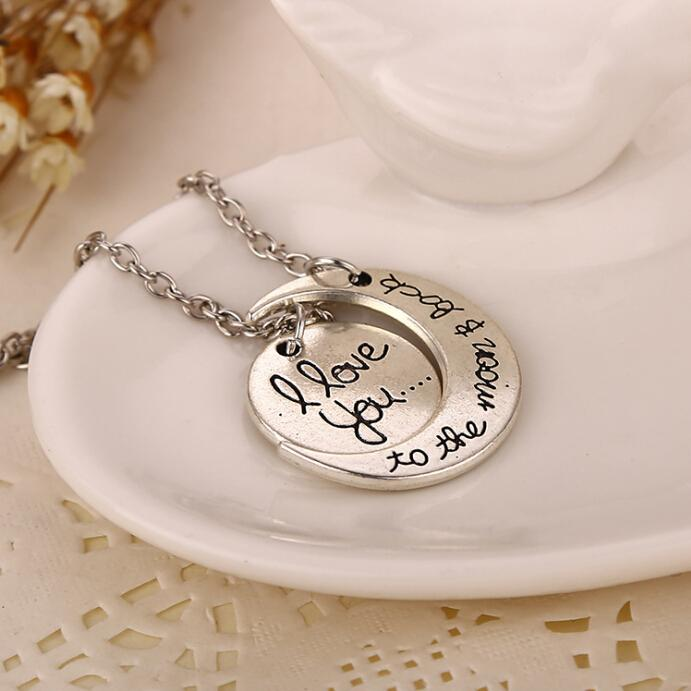 Attractive I Love You To The Moon And Back Necklace Girlfriend Birthday Gift BF62