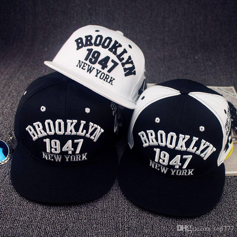 Compre Gorra De Béisbol Del Snapback Del Estilo De Brooklyn De La Moda 1947  Sombreros De Los Deportes De La Gorra Del Snapback De La Buena Calidad  Casquillo ... 616396b66e2