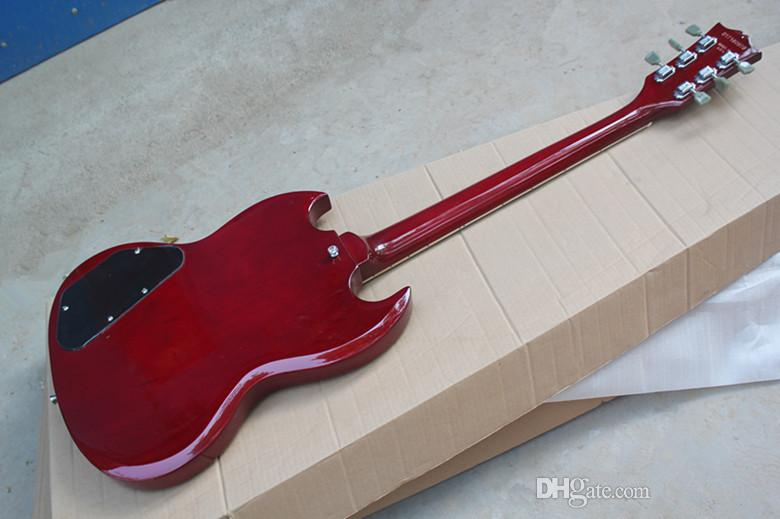 Brand New Top Quality Custom Shop Double Cut Away SG Mahogany Wine Red 2 Pickups Chrome Hardware Electric Guitar China Guitar