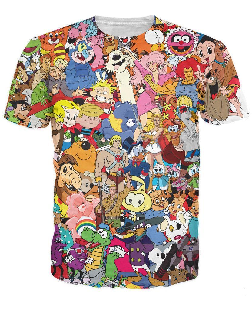 Totally 80s T Shirt Jem And The Holograms Care Bears Thundercats ...