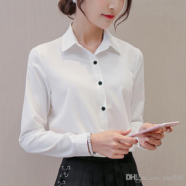 Großhandel Weiße Bluse Frauen Chiffon Büro Karriere Shirts Tops 2017 Mode  Lässig Langarm Blusen Femme Blusa Von Yan556,  16.88 Auf De.Dhgate.Com    Dhgate 36c680cc03