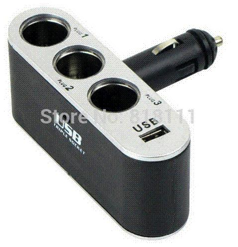 Car Accessories Cigarette Lighter Socket Splitter 12v/24v Usb Car ...
