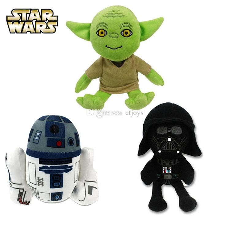 2018 new star wars plush toy 19 to 23cm master yoda darth vader r2 d2 robot cute stuffed animals dolls kids 2016 holiday christmas gifts from etjoys
