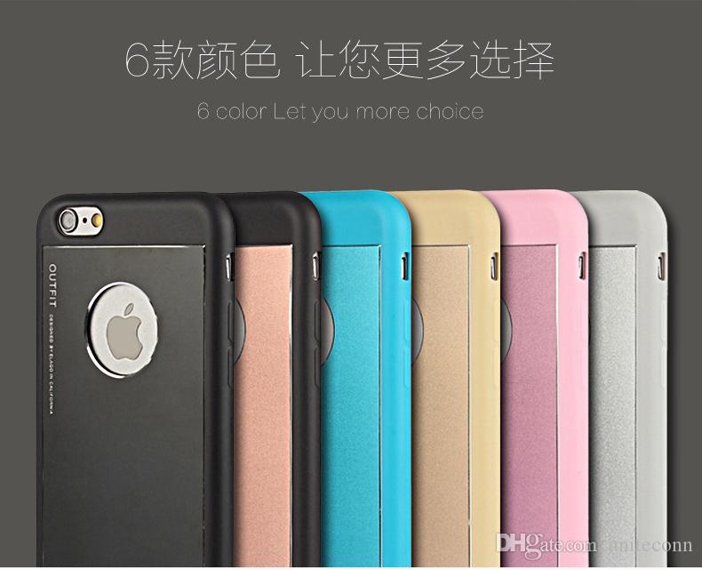 New Arrival! Korea Elago Cell phone Case For iPhone4/4S 5/5S 6G/6G plus Metal+TPU Soft All Cover Support Mix Color