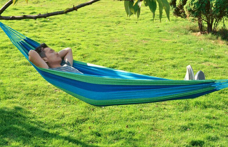 Wholesale Camping Durable Thicken Hammock Canvas Furniture Sleeping Hanging Chair Swings Bed 200x80cm