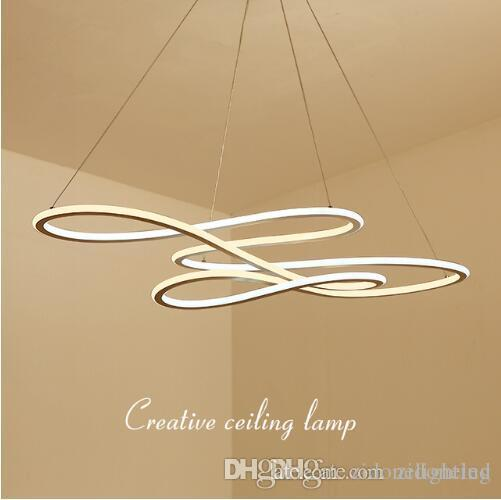 Double Glow Modern Led Pendant Light Suspension Luminaire Hanging