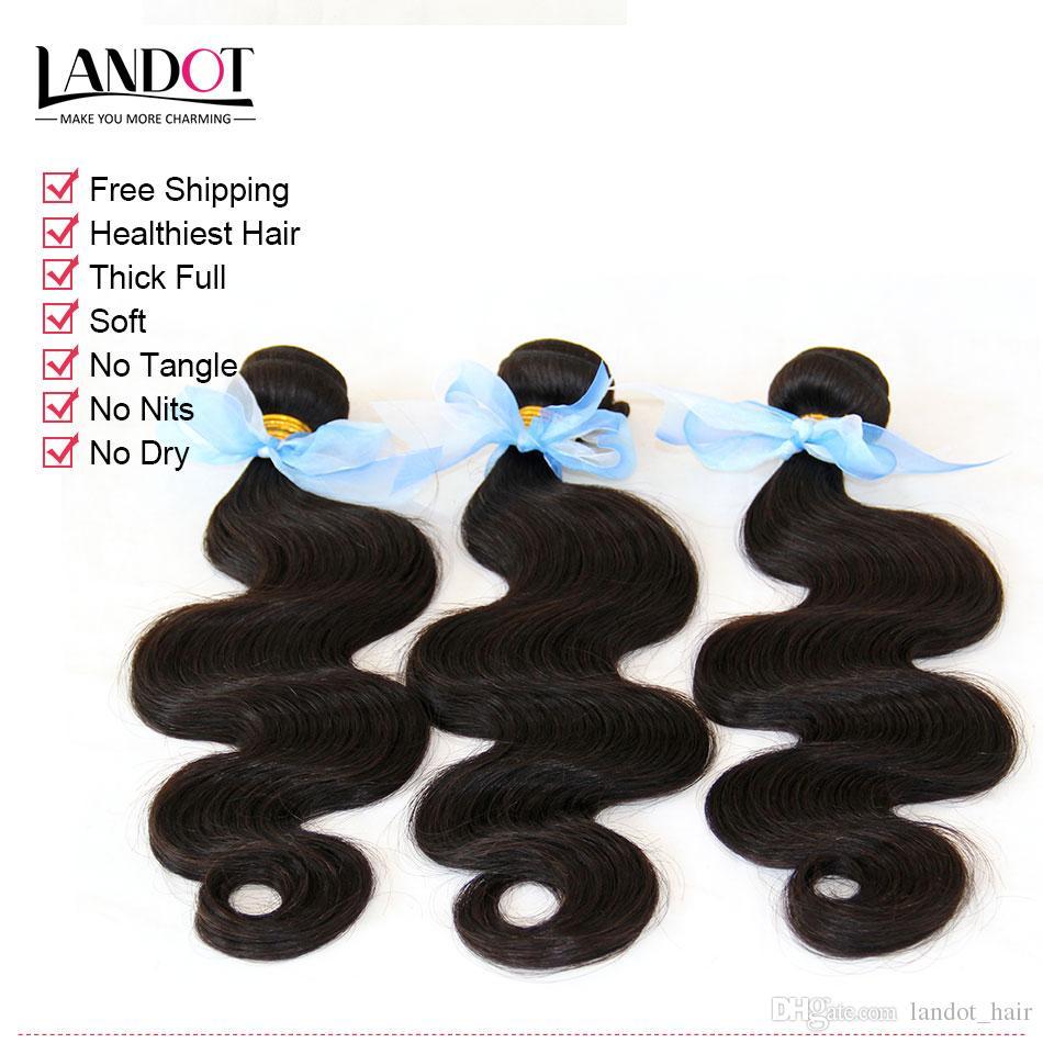 الشعر الهندي الإنسان نسج حزم 100٪ 8a غير المجهزة الهندي الجسم موجة الشعر 3 قطع الكثير رخيصة الشعر الهندي الطبيعي الأسود اللون dyeable