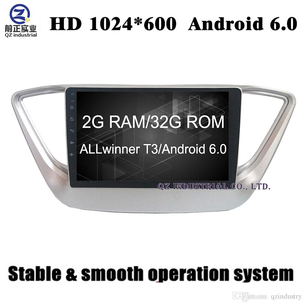 9inch 2G RAM 32G ROM Android 6 0 for hyundai 2016 2017 Solaris Accent verna  car dvd player with 3G 4G WIFI GPS radio BT free map