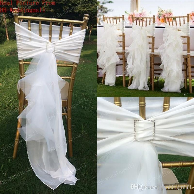 Cheap Wedding Chair Covers >> 2017 Chair Sash For Weddings Tulle Delicate Wedding Decorations Chair Covers Chair Sashes Wedding Accessories 024
