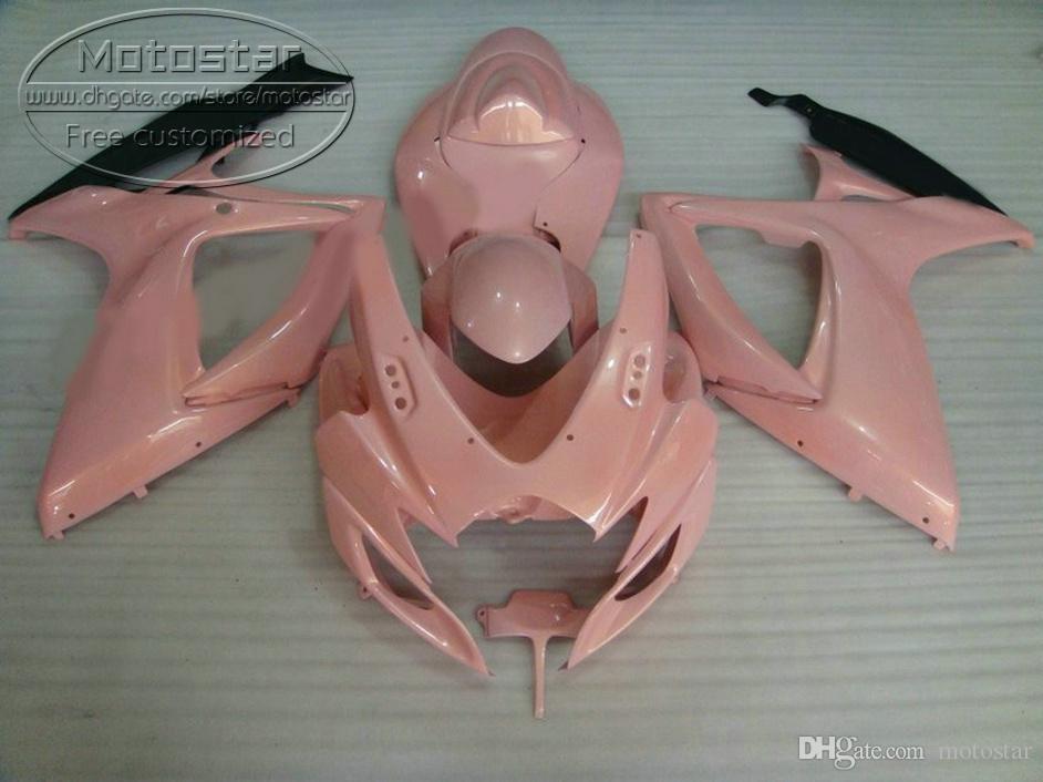 Carenagem quente definido para SUZUKI GSXR600 GSXR750 2006 2007 K6 kit de carenagem de alta qualidade preto GSX-R600 / 750 06 07 Z95B