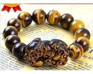 10 12 14mm Tigers Eye Pixiu Bracelet Evil Eye Jewelry Good Luck Pi