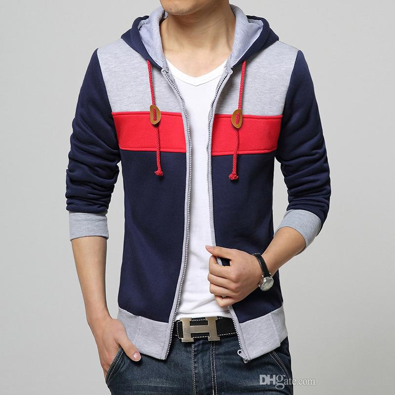 Best New Sping Fashion Men 39 S Fleece Hoodies Men Jacket