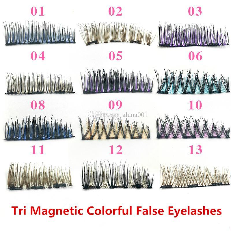 Lashes Magnetic Eye Cils Acheter Faux Tri Magnétique Couleur YmbI6gyf7v