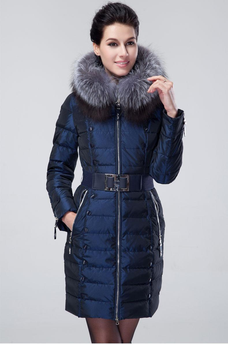 2018 Wholesale Women'S Silver Fox Fur Coats Down Puffer Coat Parka ...