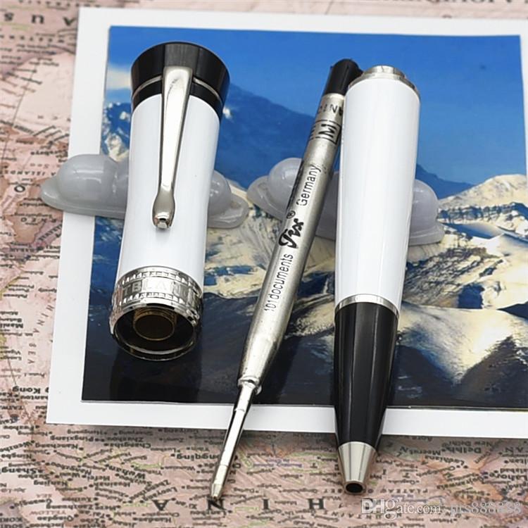 Luxury brand pen lucky star series Unique design rollerball pen / Ballpoint Pen made of High grade white resin office school supply gift