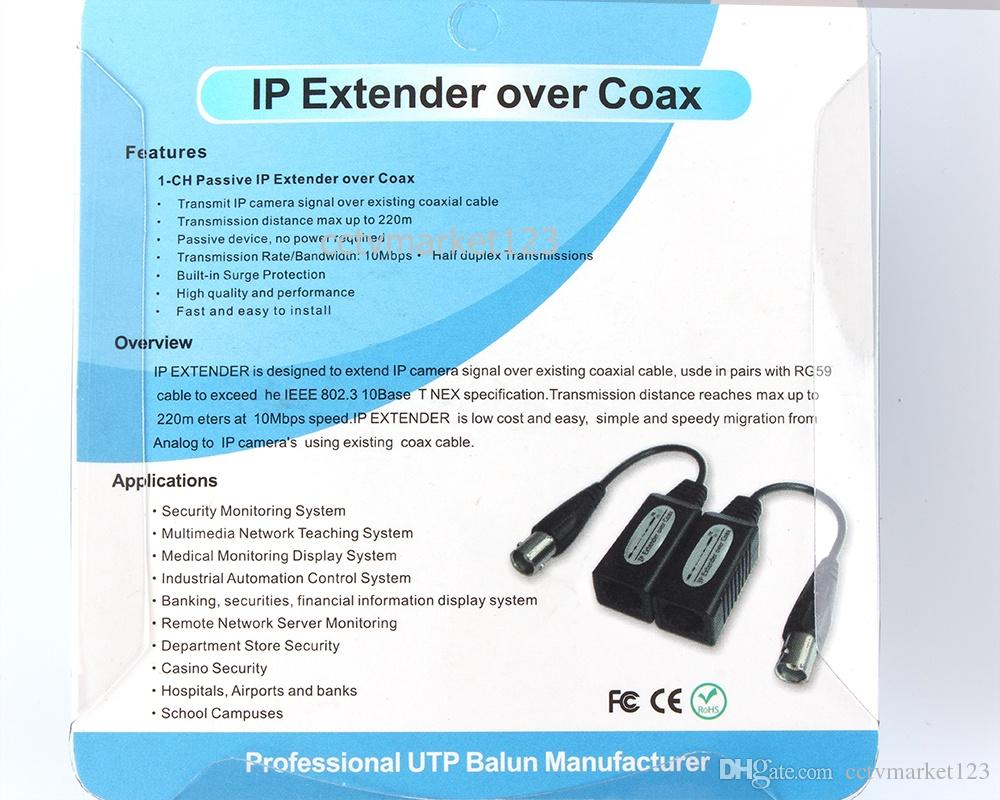 1 разбиватель IP канала пассивный над Задобренным, дальностью передачи максимальной до 220m, с кабелем RG59 для превышения IEEE 802.3