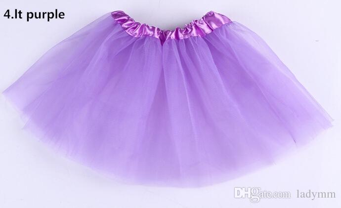 14 لون أعلى جودة حلوى لون الاطفال تنورات قصيرة تنورة الرقص فساتين لينة توتو اللباس الباليه تنورة 3 طبقات الأطفال pettiskirt الملابس 10 قطعة / الوحدة.