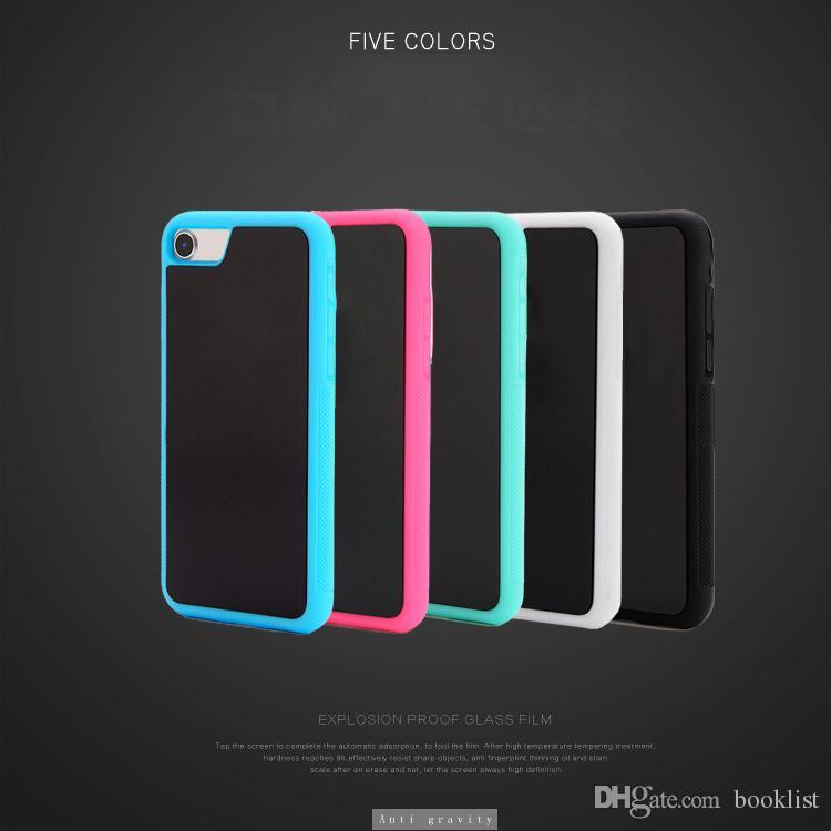 Anti Gravité Selfie Magique Nano Collant Absorption Hybride PC TPU Cas de Couverture Pour iPhone 7 Plus 6 Plus 5s 6 s Samsung S7 S6 Bord Plus Note5 Nouveau