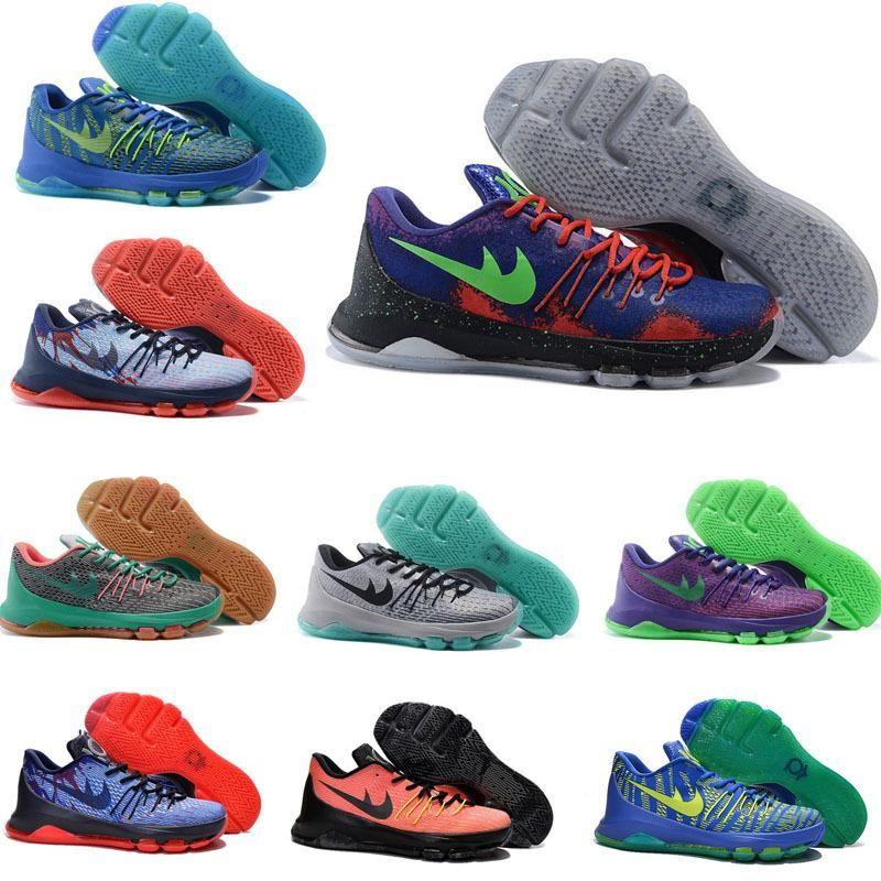 f1d00584b302 ... france 2015 kevin durant kd 8 men women basketball shoes v8 bright  crimson suit hyper cobalt
