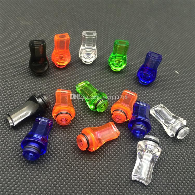 Colorful Plastic Drip Tip 510 Drip Tip Flat Mouth Mouthpiece Drip Tip Transparent Colorful Drip Tip For Ego Atomizer Ego Battery DHL Free