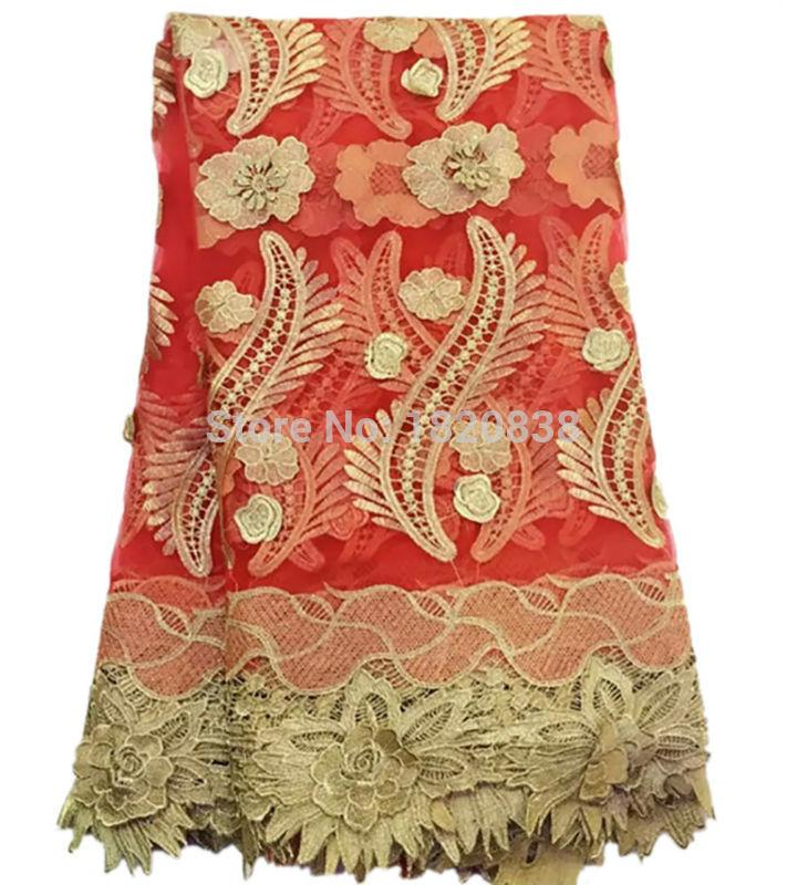 Wholesale Embroidery Designs High Quality African Cord Lace Organza