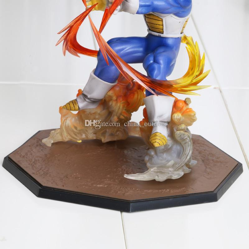 Anime Dragon Ball Z Super Saiyan Végéta État De Bataille Final Flash PVC Action Figure Collection Modèle Jouet 15 CM