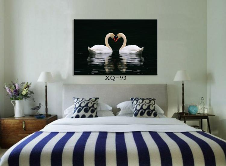 Superb Discount Modern Bedroom Wall Painting Wall Picture Home Decorative Bedside  Romantic Paintings Canvas Swan Lovers Hot Sell Art Prints From China |  Dhgate.Com