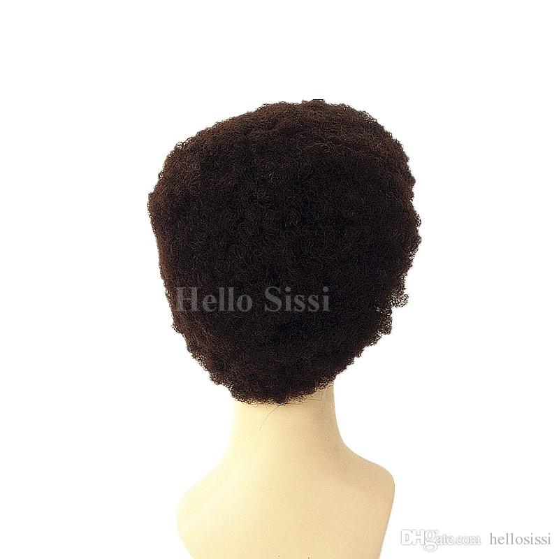 Afro kinky Curly Glueless Cap Indian Remy Human Hair Machine Made Wig For Black Women In Stock Fast Shipping