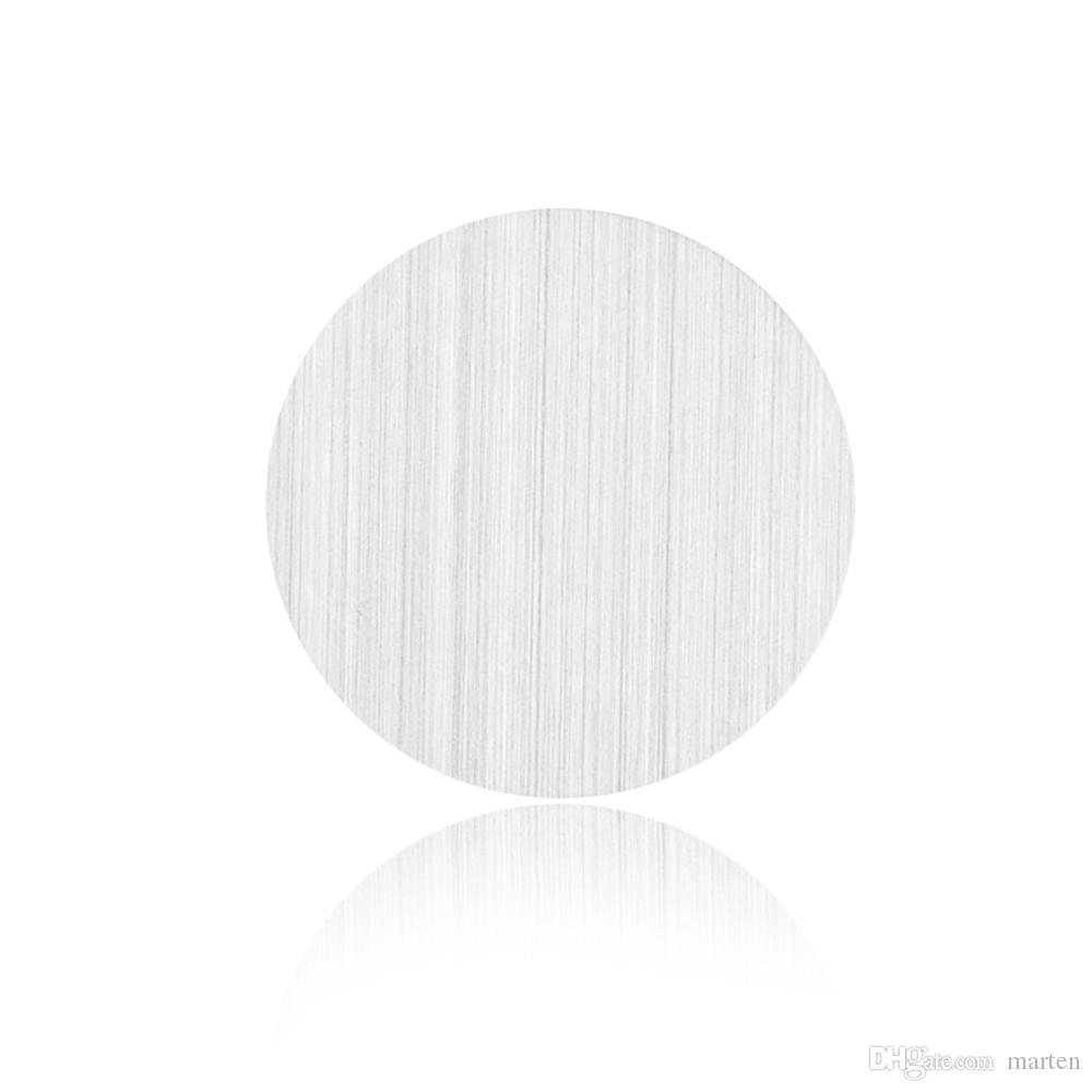 Grande plaque vierge de couleur argent en acier inoxydable de grande qualité pour médaillon vivant en verre à mémoire flottante de 30mm