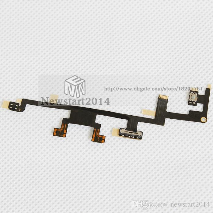 for iPad 3/4 High Quality 100% Tested Power Button ON OFF Switch Volume Button Key Flex Cable Replacement Spare Parts