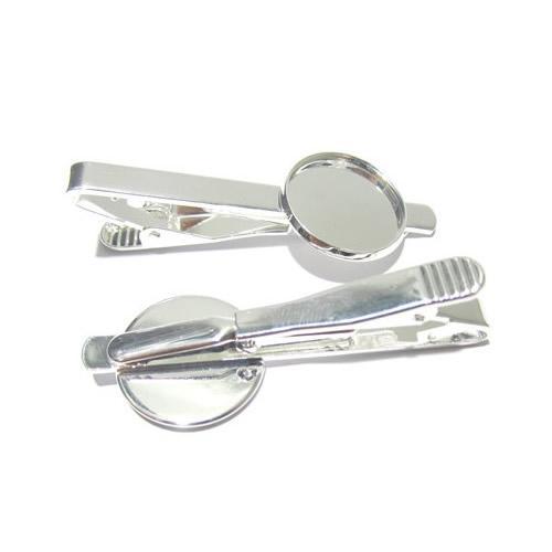 Beadsnice зажим для галстука пустой с 18 мм круглый кабошон установка латунь ювелирные изделия галстук клип частей для вашего ювелирных изделий ID 23045