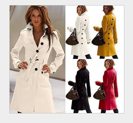 92ca8292373db 2019 Hot Sale Ladies Cashmere Coat 2015 Winter Women Solid Long Double  Breasted Lapel Neck Windbreaker Outerwear Winter Yellow Wool Coat Women  From Cnaonist ...