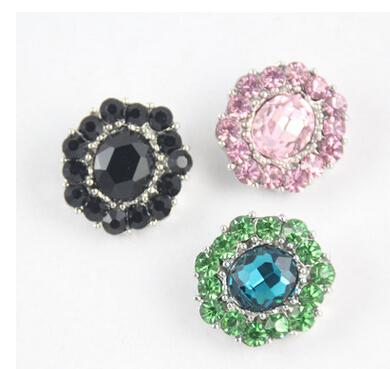 environmental protection flower shape rhinestone sanp button 20mm alloy DIY rhinestone alloy snap Noosa style chunks press button jewelry