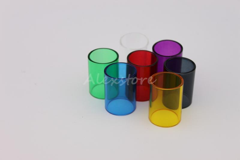 Subtank Mini Pyrex Glass Tube Replacement Colorful Replacable Changeable Caps for Kanger Kangertech Sub tank Mini RBA E cig Vape Accessories
