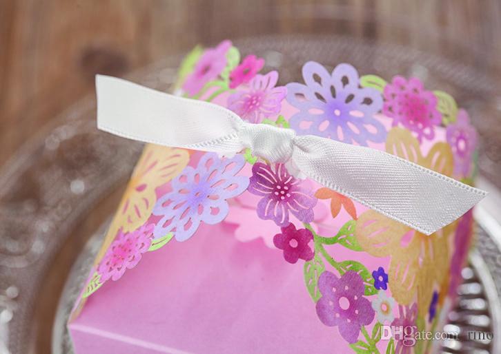 عرس الحسنات هدايا صناديق الليزر قص لصالح ورقة لصالح صناديق زهرة حفل زفاف حلوى مربع الزفاف ورقة الليزر الشوكولاته هدية مربع
