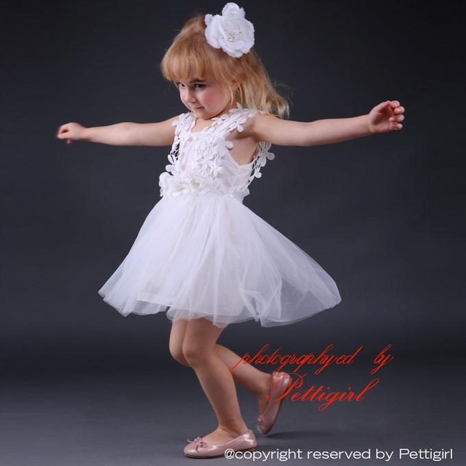 Pettigirl Hot Fluffy Baby-Spitze Kleider ärmelBlumen Tüll-Kleid für Hochzeit Kinder tragen Mädchen nettes Kleid GD80905-29