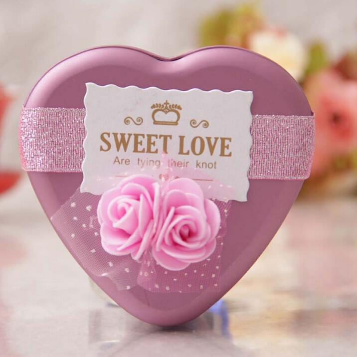 Sweet Love Heart Candy Boxes 2015 Wedding Style Favor Holders Tin