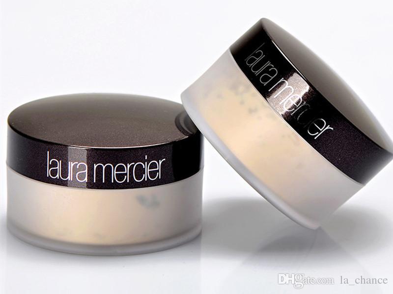 Dropshipping 2017 hot Laura Mercier Foundation Polvos sueltos Maquillaje Fijación Polvos Min Pore Brighten Corrector