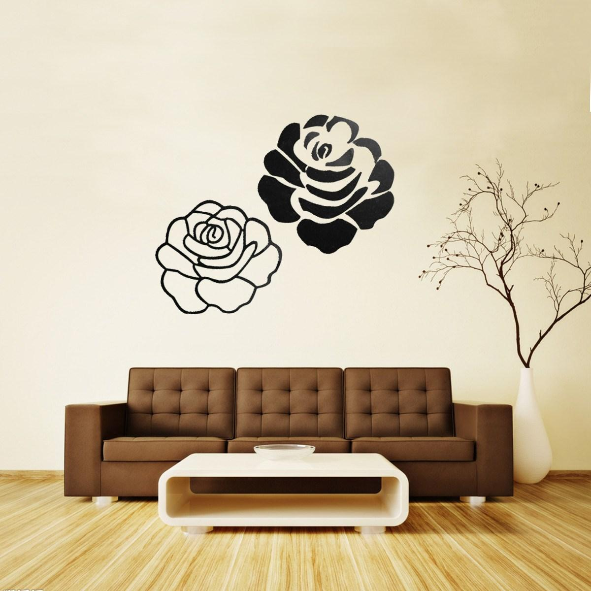 Rose wall stickers gallery home wall decoration ideas best promotion rose wall sticker decal gold and sliver wall best promotion rose wall sticker decal amipublicfo Gallery