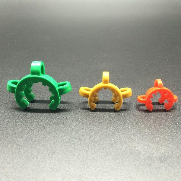 도매 10 mm 14mm 19mm 플라스틱 Keck 클립 플라스틱 폴더 Keck 실험실 실험실 클램프 클립 유리 봉에 대 한