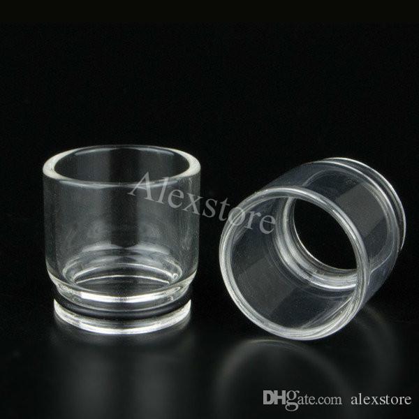 Best Pyrex Glass 510 Ego drip tips flat long clear drip tip mouthpiece adapter Wide Bore driptip for alien rba rda atomizer vapor tank ecig