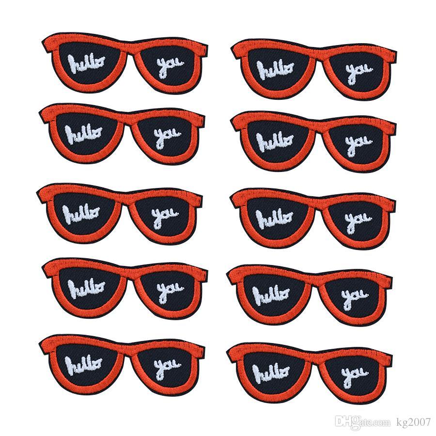 Sonnenbrille Aufnäher für Kleidung Taschen Eisen-on Transfer Applikationen Aufnäher für Jeans DIY nähen auf Stickerei-Abzeichen
