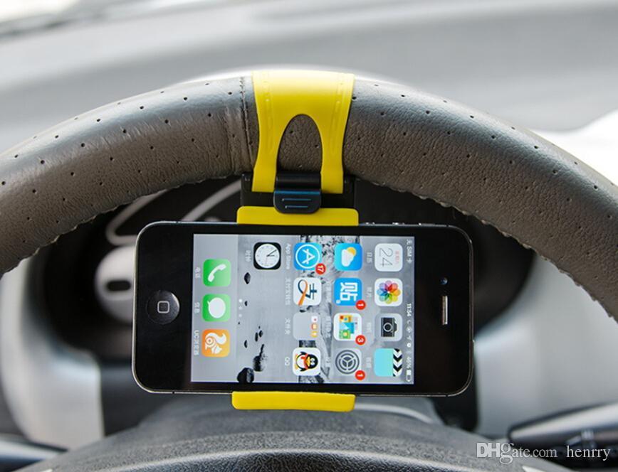 Car Cell Phone Holder Steering Bracket Steering Wheel Steering Wheel Holder Mobile Cell Phone Navigation