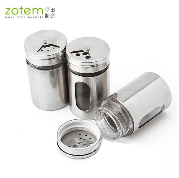 stainless steel u0026 glass spice jar sauce pot seasoning bottle cruet condiment bottles toothpick tube storage bottles u0026 jars - Glass Spice Jars