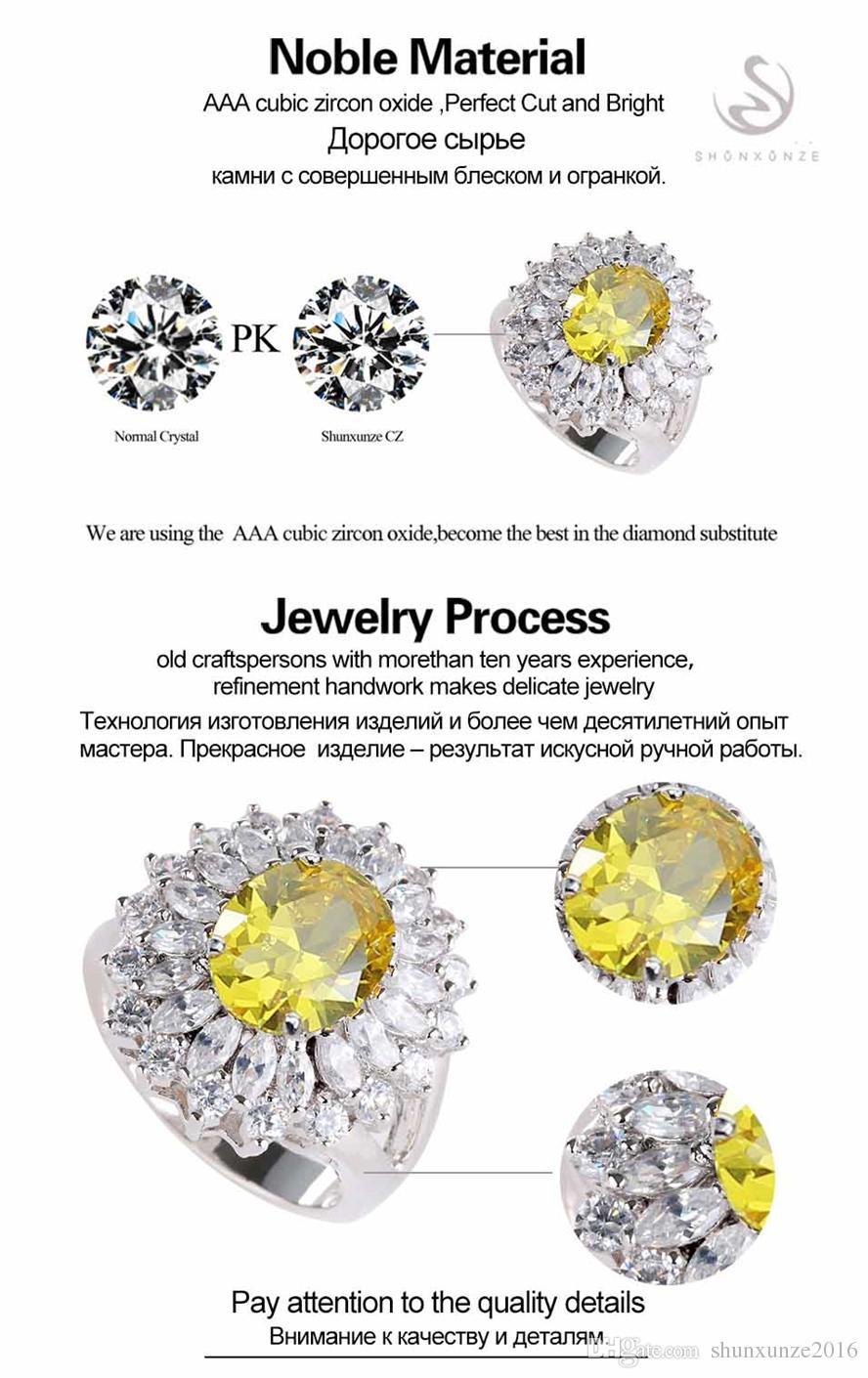 Das neue Produkt Shinning Bestseller MN458 sz # 6 7 8 9 Gelb Zirkonia Schöne Kupfer rhodiniert für Frauen Ringe Fashion Punk
