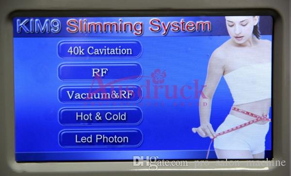 Multifunction Vacuum RF Odchudzanie Ultradźwiękowy 40k Cavitation Maszyna Photon Skin LED Odmładzanie twarzy Podnośnik skóry Dokręcanie Urządzenie do pielęgnacji kosmetycznej